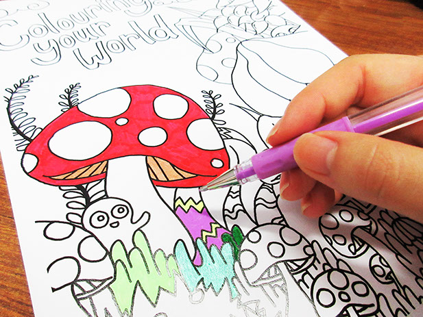 photo of person colouring