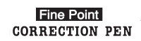 Fine point correction pen logo